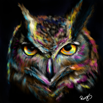 Owl Colour Expression  | Robyn | Digital Drawing | PENUP