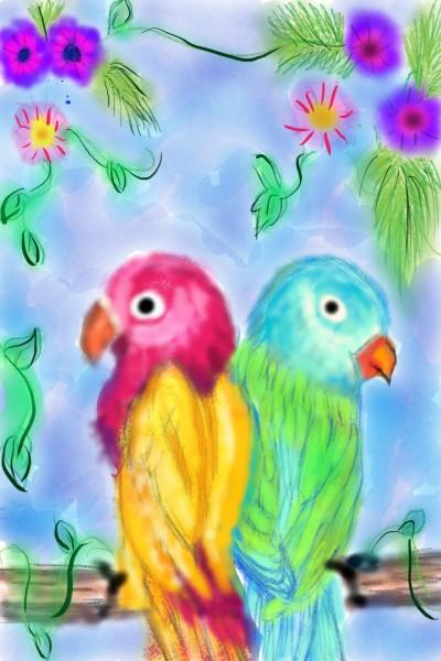 parakeets    kitt   Digital Drawing   PENUP