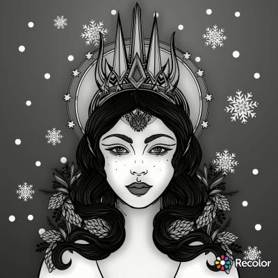 B&W Ice Queen | gman187 | Digital Drawing | PENUP