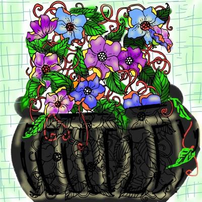 flower pot | AZR | Digital Drawing | PENUP