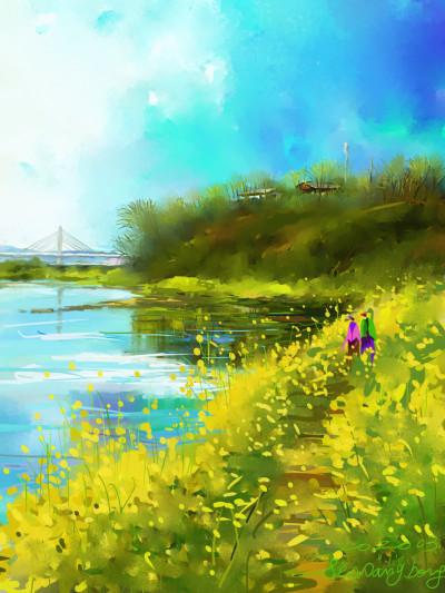 River side | SSB | Digital Drawing | PENUP