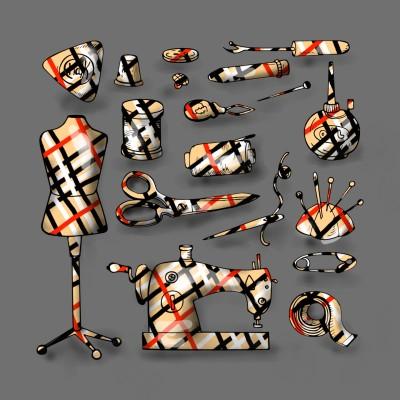바느질세트.. sewing set..   mjyoo   Digital Drawing   PENUP