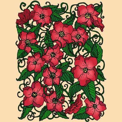 Vines & Flowers  | Trish | Digital Drawing | PENUP