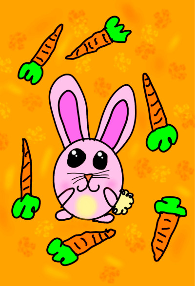 Bunny + Carrot = ♡ | Zenovia | Digital Drawing | PENUP
