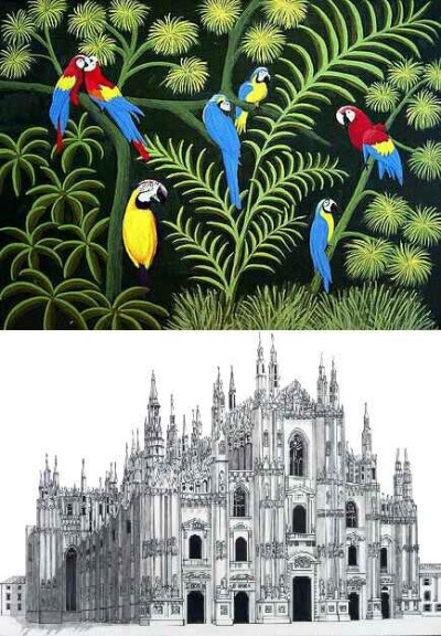 Birds and Architecture  | nayaklcfr | Digital Drawing | PENUP