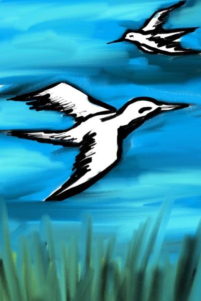 flying birds | beechumode | Digital Drawing | PENUP