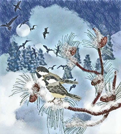 Winter Birds | Charldia | Digital Drawing | PENUP