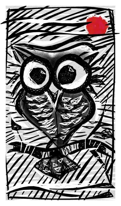 the owl  | rajeev | Digital Drawing | PENUP
