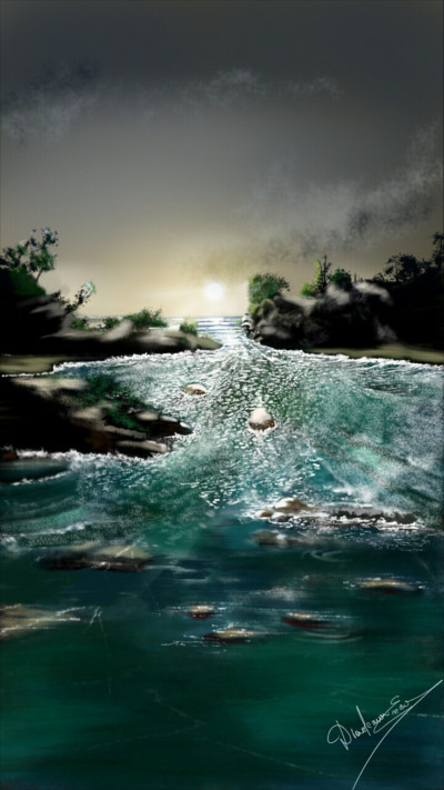 When the river comes home | Abex | Digital Drawing | PENUP