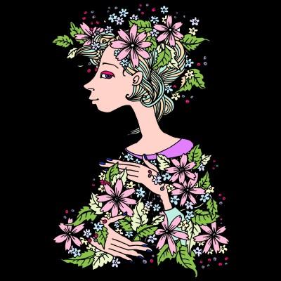 flower girl | Monkey | Digital Drawing | PENUP