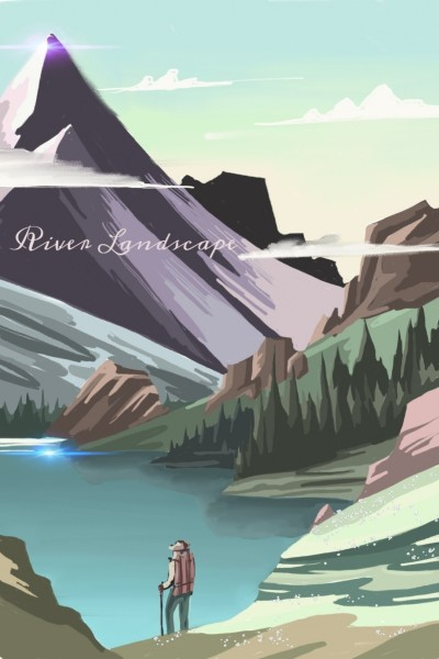 river Landscape  | Alex | Digital Drawing | PENUP
