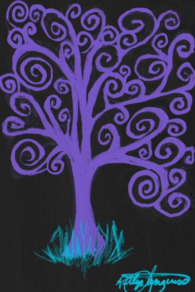 purple Swirly Tree | _Katlyn_L | Digital Drawing | PENUP
