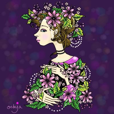 A beautiful spring maid♡ | ockja | Digital Drawing | PENUP