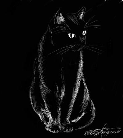 Black cat | _Katlyn_L | Digital Drawing | PENUP