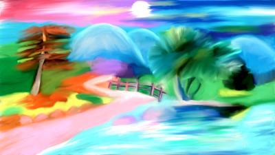 River scenery  | sulakshana | Digital Drawing | PENUP
