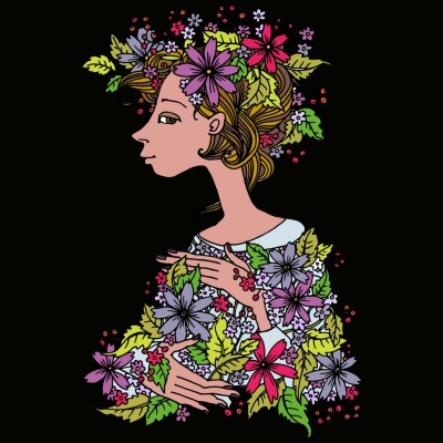 La donna dei fiori | Giorgia | Digital Drawing | PENUP