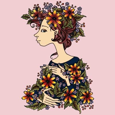 Flower Girl | NazEzanie | Digital Drawing | PENUP