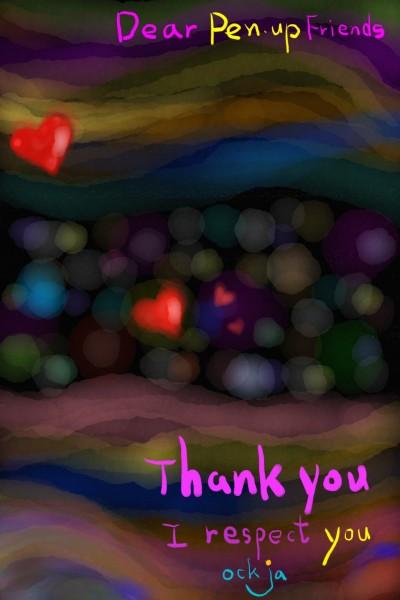 The secret spring of hearts flying up♡☆♡ | ockja | Digital Drawing | PENUP