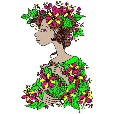 Lady Flowers  | Barbee | Digital Drawing | PENUP
