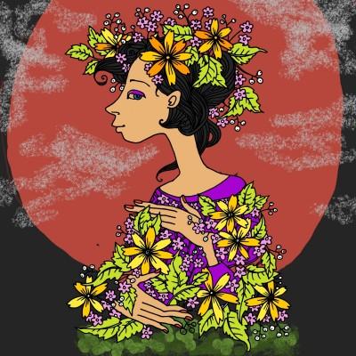 moon flowers | Chris | Digital Drawing | PENUP