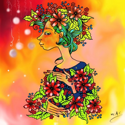 Deessa de la natura  | Carme | Digital Drawing | PENUP