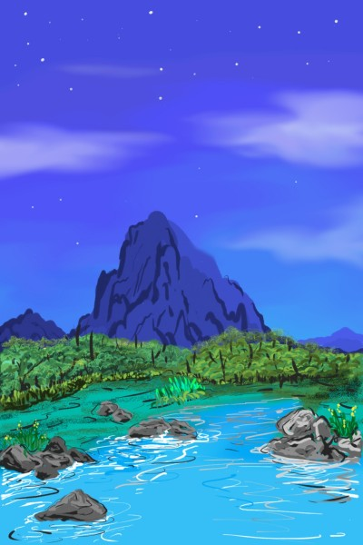 Morning River | Cak_Ni | Digital Drawing | PENUP