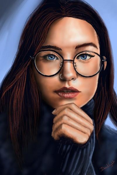 Portrait du jour | Doodilight | Digital Drawing | PENUP