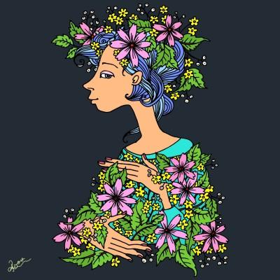 flowers   Adelina   Digital Drawing   PENUP