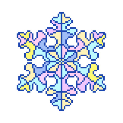 Snowflake  | Gaycouple | Digital Drawing | PENUP
