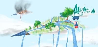 penup the flying island  | Louis | Digital Drawing | PENUP