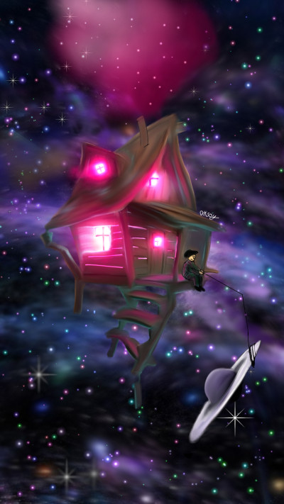 My Home in the Galaxy IVONNE CHALLANGE  | aksoy | Digital Drawing | PENUP