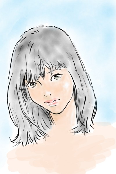 a girl | UpJ | Digital Drawing | PENUP