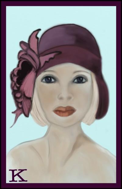 Burgundy Hat by K.E. R | katherineeroach | Digital Drawing | PENUP