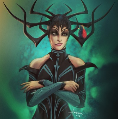 Hela - Goddess of Death (phone art) | Hunger_art | Digital Drawing | PENUP