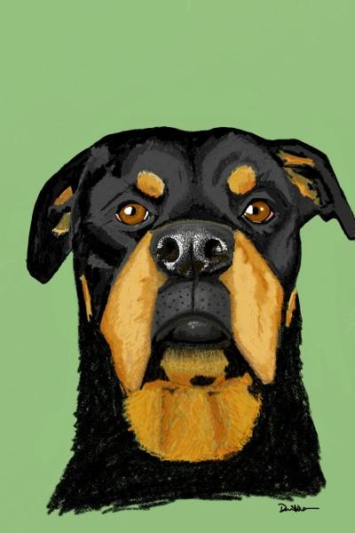Juno the Rottweiler  | Lor-Van | Digital Drawing | PENUP