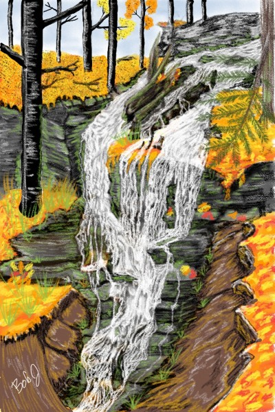 fall time waterfall   nyyankeehitman   Digital Drawing   PENUP