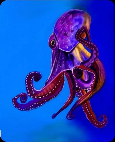 purple octopus | Lor-Van | Digital Drawing | PENUP