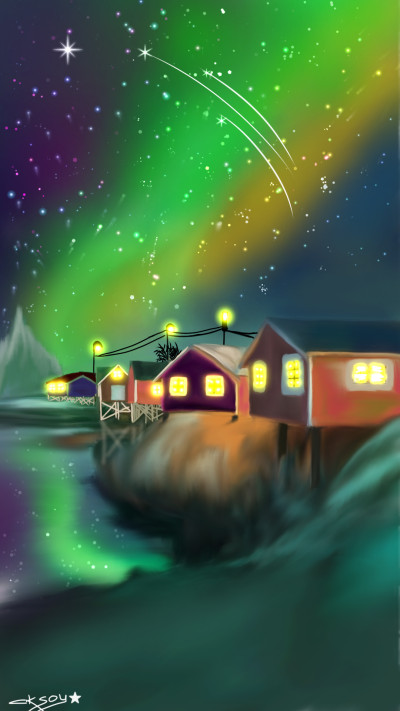 MAGIC PLACE☆☆☆ NORWAY(GALAXY RAYS)  | aksoy | Digital Drawing | PENUP