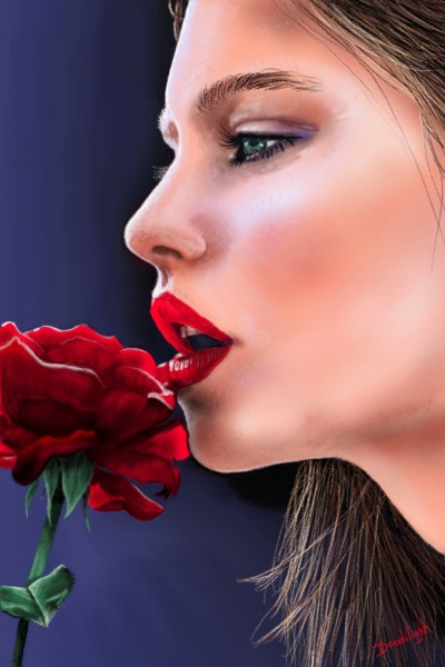 Rose rouge | Doodilight | Digital Drawing | PENUP