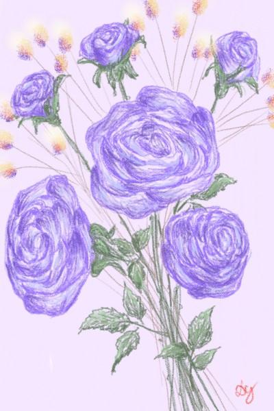 violet roses | Damirijana | Digital Drawing | PENUP