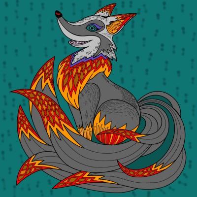 Fox on Fire | Avi | Digital Drawing | PENUP