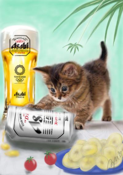 ビールで乾杯 !Beer | azu | Digital Drawing | PENUP