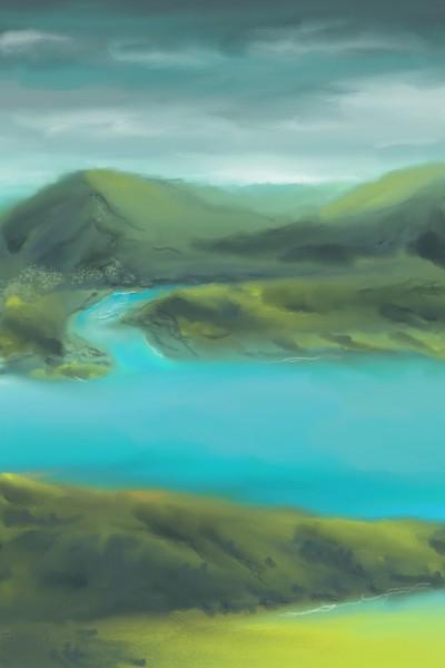 Landscape Digital Drawing   les   PENUP