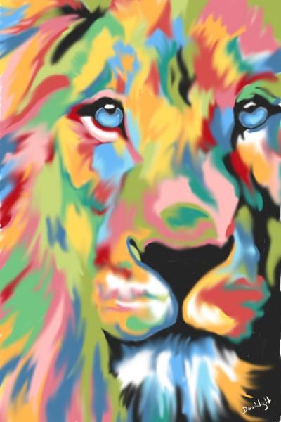 Lion coloré    Doodilight   Digital Drawing   PENUP