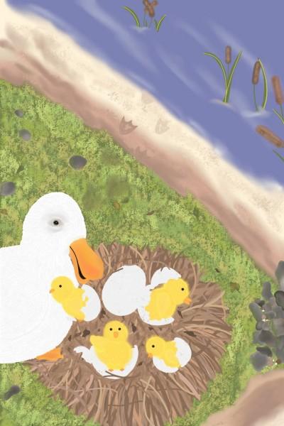 Ducklings   Kristen_Shay   Digital Drawing   PENUP