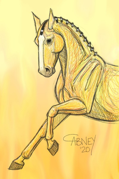 Yellow Horse | shadowmare72 | Digital Drawing | PENUP