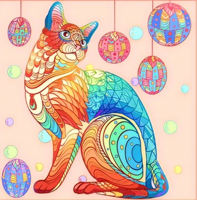 Colorful Cat | Chris | Digital Drawing | PENUP