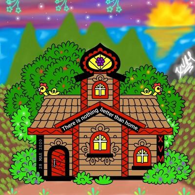 Nothing is better than home.♥ | XavierViruet | Digital Drawing | PENUP