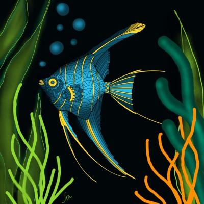 Coloring Digital Drawing | Janna | PENUP