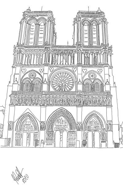 Notre Dame Paris | StevenCarroll | Digital Drawing | PENUP